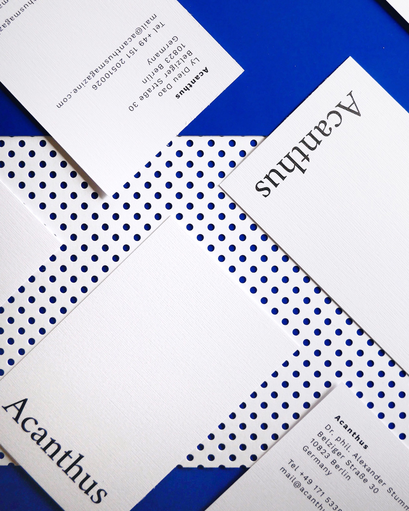 Visual Identity Acanthus graphic design Berlin business cards